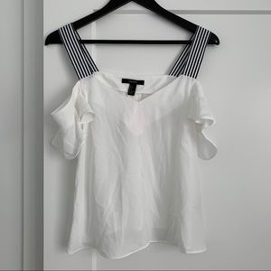Forever 21 Off Shoulder White Blouse. NWT